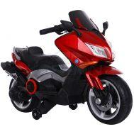 Παιδική Ηλεκτρική Μηχανή Yamaha T-MAX Style 12V Μπορντό Skorpion Wheels 5245091