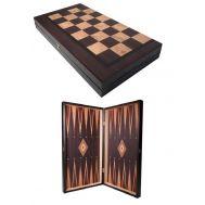 Τάβλι-Σκάκι δίχρωμο οξιά με εκτύπωση καρυδιά 30 Χ 30cm SuperGifts 501901MK