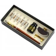 Σετ Ξύλινη πένα κονδυλοφόρος με 10 ανταλλακτικές μύτες και στυπόχαρτο Jiner JN82