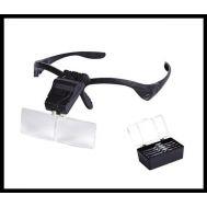 Γυαλιά εργασίας με 5 μεγεθυντικούς φακούς και LED φωτισμό MYSTERY NO.9892B