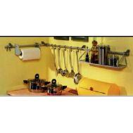 Ράφι κουζίνας 3 τεμαχίων με γάντζους & θέση για χαρτί RUCO V-711