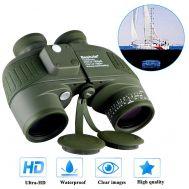 Αδιάβροχα κιάλια 7X50 BAK4 Porro Prism Night Vision Binoculars Aomekie Marine