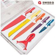 Μαχαίρια Τιτανίου με Κεραμική Επίστρωση σετ 6 τεμαχίων SWISS Q