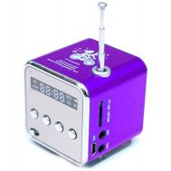 Mini MP3 Player - Fm Radio Aluminum Speaker Purple