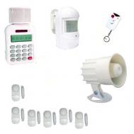 Ασύρματος συναγερμός με τηλεειδοποίηση - 2 ραντάρ - 2 σειρήνες - 6 παγίδες