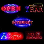 Φωτιζόμενες Διαφημιστικές Πινακίδες - Επιγραφές LED με Εφέ Κίνησης