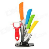 Σετ ένχρωμα κεραμικά μαχαίρια κουζίνας με βάση MOGAMI