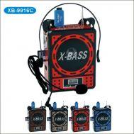 Φορητό επαναφορτιζόμενο MP3 Radio με Μικρόφωνο κεφαλής Waxiba XB-9916C