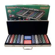 Βαλίτσα Πόκερ με 500 μάρκες και 2 τράπουλες