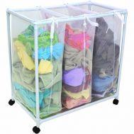 Καρότσι συλλογής άπλυτων ρούχων τριών σάκων 87x40x70 cm Laundry Sorter YLT-0405F