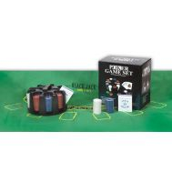 Περιστρεφόμενο πλαστικό Poker Game Set Rotary με 200 μάρκες, 2 τράπουλες πλαστικοποιημένες κι ένα ταπέτο Black Jack