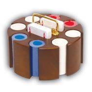 Περιστρεφόμενο ξύλινο σετ από καρυδιά ROTARY με 200 μάρκες  Poker No222