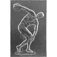 Ανάγλυφος πίνακας χειροποίητος 14Χ22 cm από αλουμίνιο θέμα ΔΙΣΚΟΒΟΛΟΣ