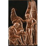 Ανάγλυφος πίνακας χειροποίητος 14Χ22 cm θέμα ΔΑΙΔΑΛΟΣ ΚΑΙ ΙΚΑΡΟΣ