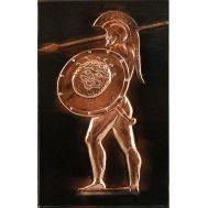 Ανάγλυφος πίνακας χειροποίητος 14Χ22 cm θέμα Ο ΛΕΩΝΙΔΑΣ