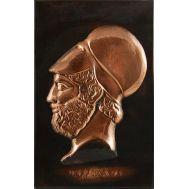 Ανάγλυφος πίνακας χειροποίητος 14Χ22 cm θέμα ο ΠΕΡΙΚΛΗΣ
