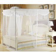 Κουνουπιέρα κρεβάτιού 150 X 200 cm με συναρμολογούμενο σκελετό αλουμινίου