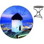 Τραπέζι καφενείου μεταλλικό 60 cm ηλεκτροστατικής βαφής Ελληνική Κατασκευής Nardimaestral Décor ΕΝΑΣ ΜΥΛΟΣ