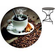 Τραπέζι καφενείου μεταλλικό 60 cm ηλεκτροστατικής βαφής Ελληνική Κατασκευής Nardimaestral Décor ΚΑΦΕΣ