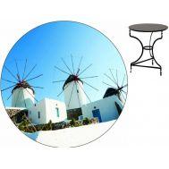 Τραπέζι καφενείου μεταλλικό 60 cm ηλεκτροστατικής βαφής Ελληνική Κατασκευής Nardimaestral Décor ΤΡΕΙΣ ΜΥΛΟΙ