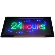 """Φωτιζόμενη πινακίδα με κίνηση """" 24HOURS """" OEM"""