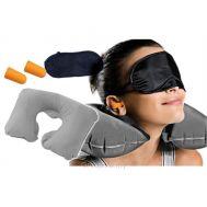 Μάσκα ύπνου με Ωτοασπίδες και Μαξιλάρι αυχένα σετ 3 σε 1 TRAVEL SELECTION