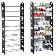 Παπουτσοθήκη 10 Ραφιών Φορητή 156 x 26 x 65 cm stackable shoe rack