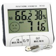 Ψηφιακό Θερμόμετρο, Υγρόμετρο Εσωτερικού - Εξωτερικού Χώρου Ακριβείας HUM-DC103