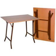Τραπέζάκι αναδιπλούμενο μελαμίνης 70X120 cm ηλεκτροστατικής βαφής βάση ΜΠΡΙΤΖ Ελληνική Κατασκευής Nardimaestral
