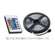 Αυτοκόλλητη ταινία LED RGB - 3528 SMD - 12V - 5m με χειριστήριο OEM 3528