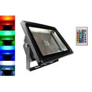 Προβολέας LED RGB 20W 230v αλουμινίου (εναλλαγής χρωμάτων) στεγανός IP-65