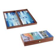 Τάβλι χειροποίητο ξύλινο καρυδιά 30x15cm Ελληνικά νησια Μανόπουλος TX3CY