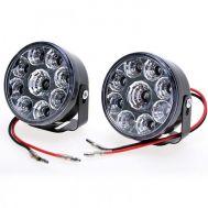 Προβολάκια αυτοκινήτου 2x9W με 9 LED το κάθενα OEM R-O90