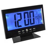 Ρολόι με Ξυπνητήρι, αισθητήρα ήχου, LCD οθόνη, θερμοκρασία Voice Control Back-Light LCD Clock OEM DS-8082