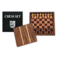 Σκακιέρα ξύλινη μίνι με κάλυμμα 15x15x3,5cm