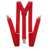 Τιράντες ανδρικές μονόχρωμες κόκκινες στα 30mm με μήκος ελαστικού 120 cm (ρυθμιζόμενο) OEM 30120