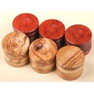 Πούλια από ξύλο ελιάς μεγάλα Red