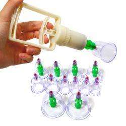 Παραδοσιακή Θεραπευτική Συσκευή με Βεντούζες 12 Ανταλλακτικών Κεφαλών YUEXIAO YX005