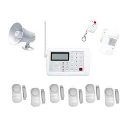 Ασύρματος συναγερμός με ραντάρ - 2 σειρήνες - τηλεφωνική ειδοποίηση - αναγγελία ηχογραφημένου μυνήματος - 6 αυτόνομες παγίδες