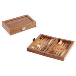 Τάβλι χειροποίητο 20x12 cm από ξύλο ελιάς και κορνίζα πλαίσιο ξύλου καρυδιάς Μανόπουλος TXL4KH