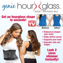 Ζώνη Σύσφιξης και Αδυνατίσματος Διπλής Πίεσης Κορσές Μέσης Genie Hourglass