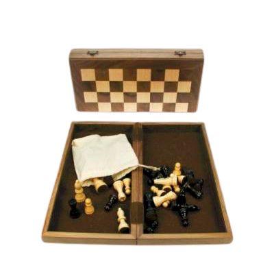 Ξύλινο Σκάκι Καρυδιά Ταξιδιού 31 Χ 31 cm